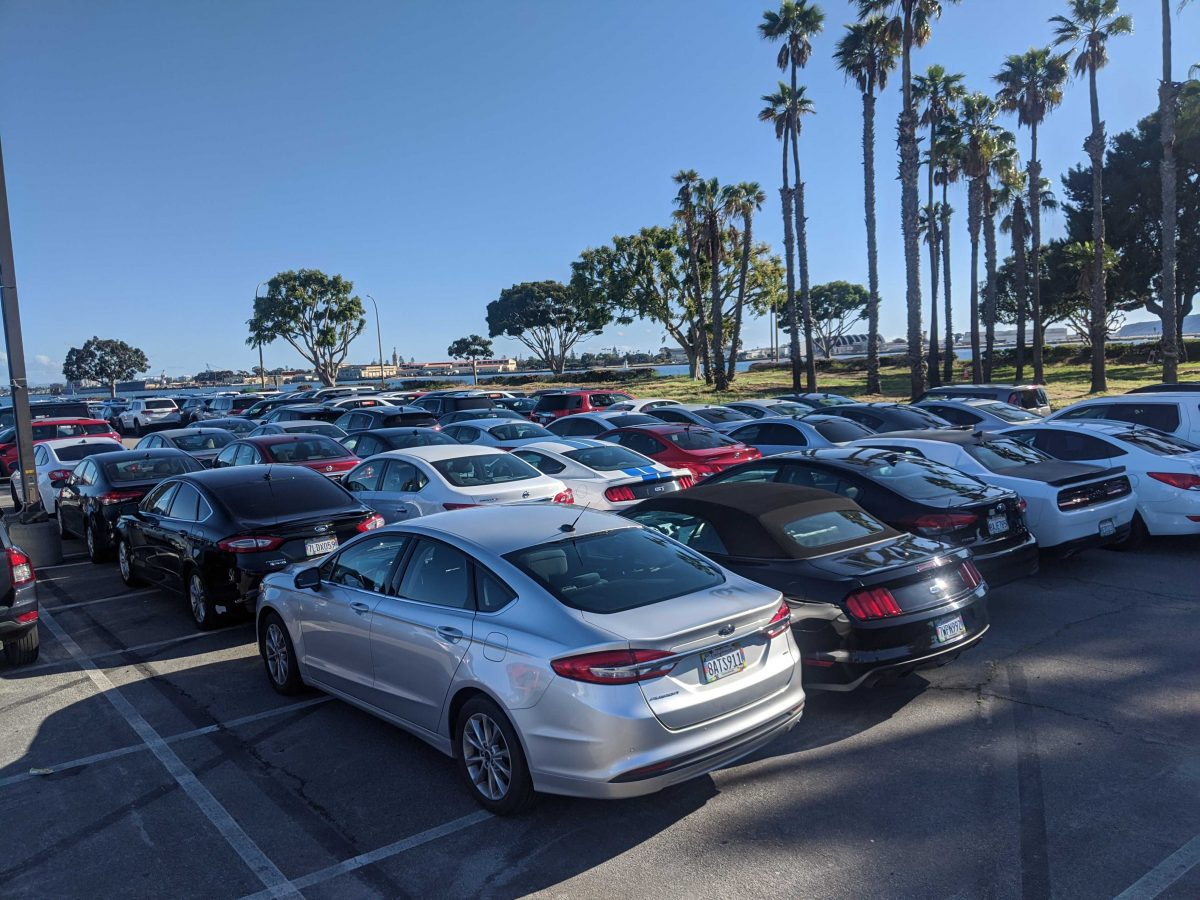 Stacking up cars in San Diego